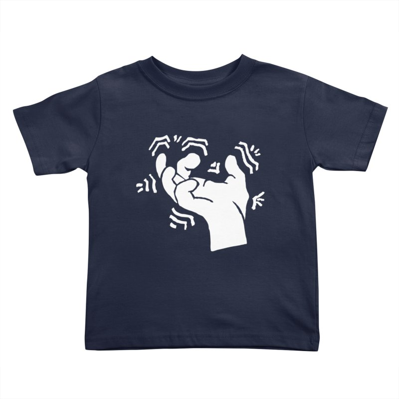 Savage Hand White Kids Toddler T-Shirt by The Martial Arts Academy's Store