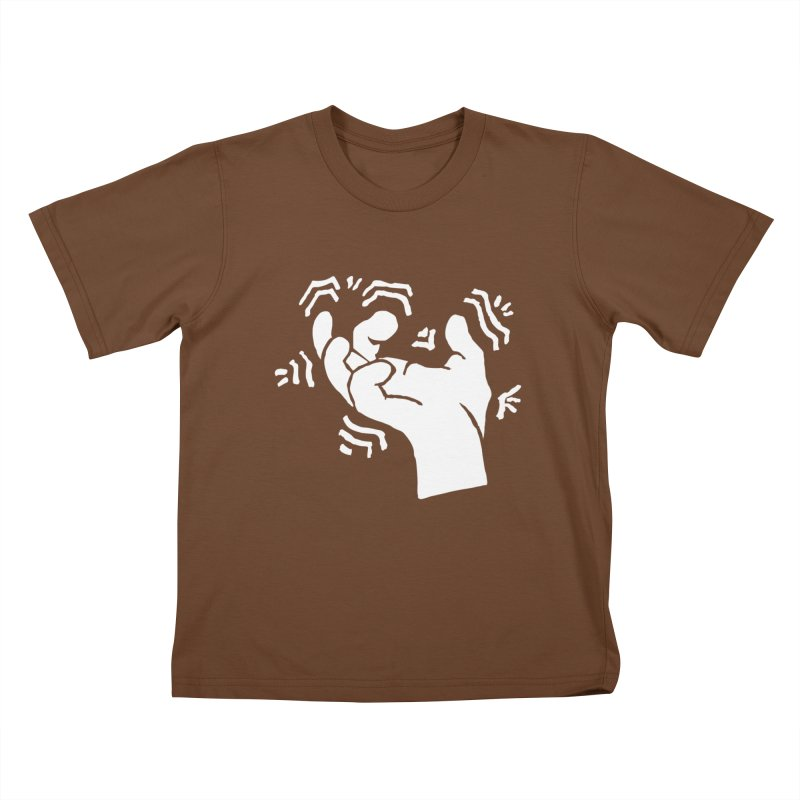 Savage Hand White in Kids T-Shirt Brown by The Martial Arts Academy's Store