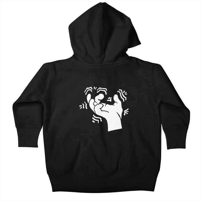 Savage Hand White Kids Baby Zip-Up Hoody by The Martial Arts Academy's Store