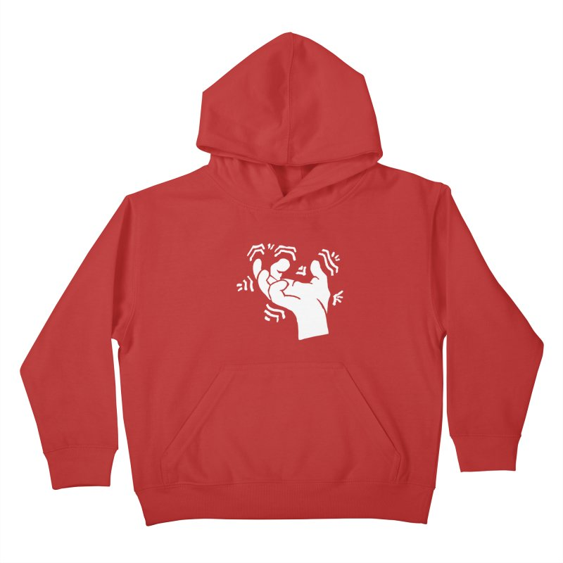 Savage Hand White Kids Pullover Hoody by The Martial Arts Academy's Store