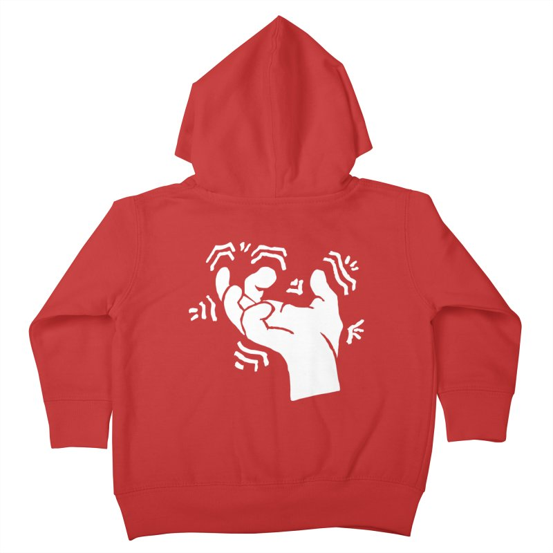 Savage Hand White Kids Toddler Zip-Up Hoody by The Martial Arts Academy's Store