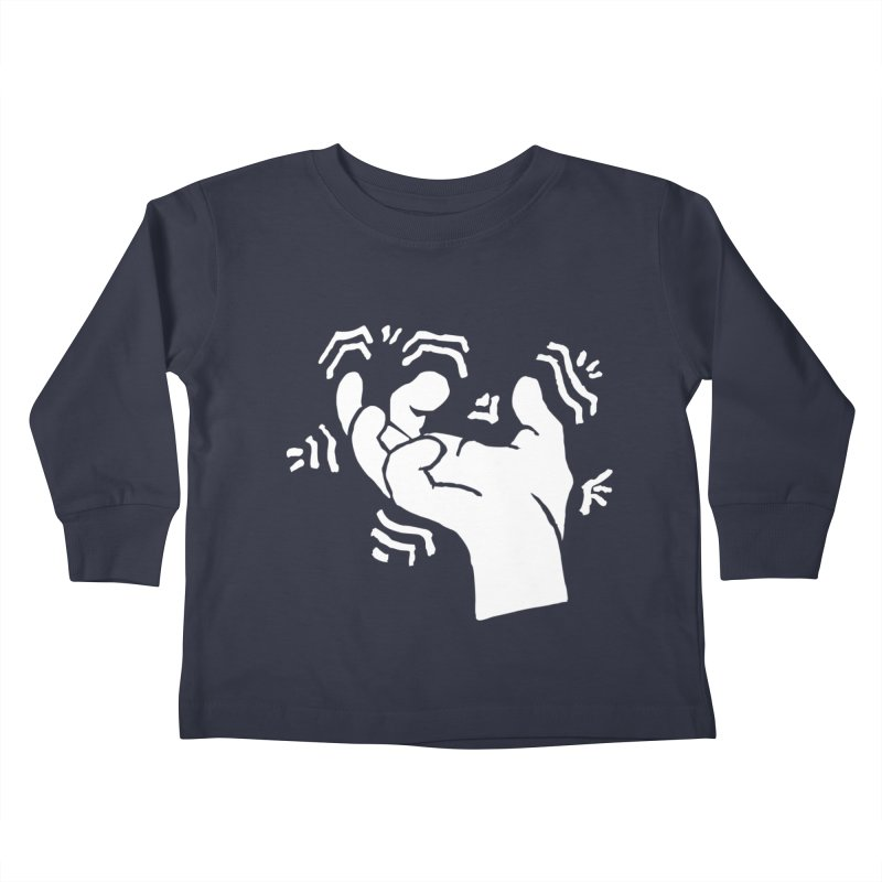 Savage Hand White Kids Toddler Longsleeve T-Shirt by The Martial Arts Academy's Store