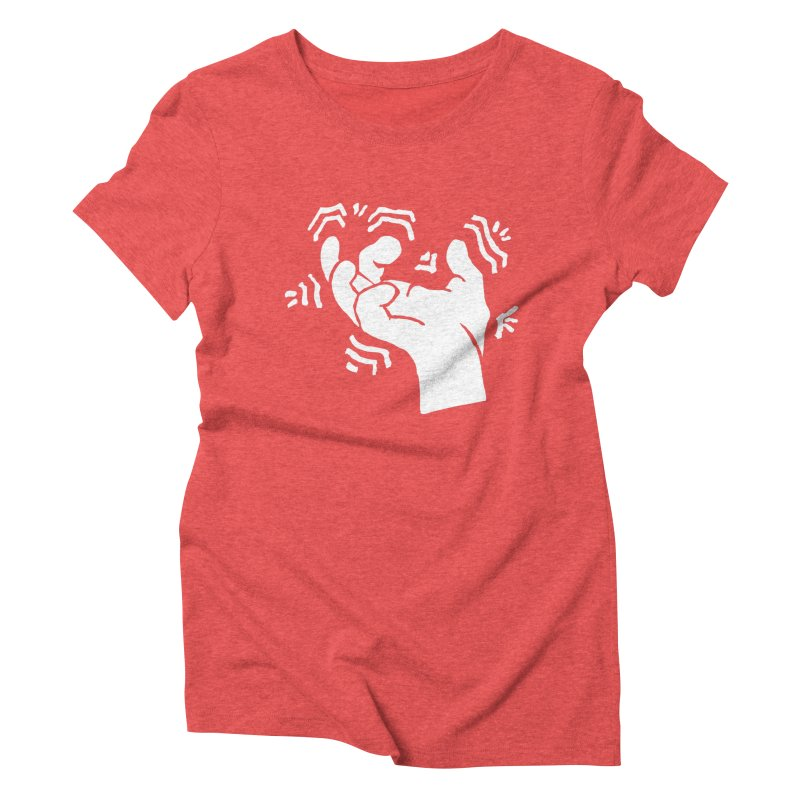 Savage Hand White Women's Triblend T-Shirt by The Martial Arts Academy's Store
