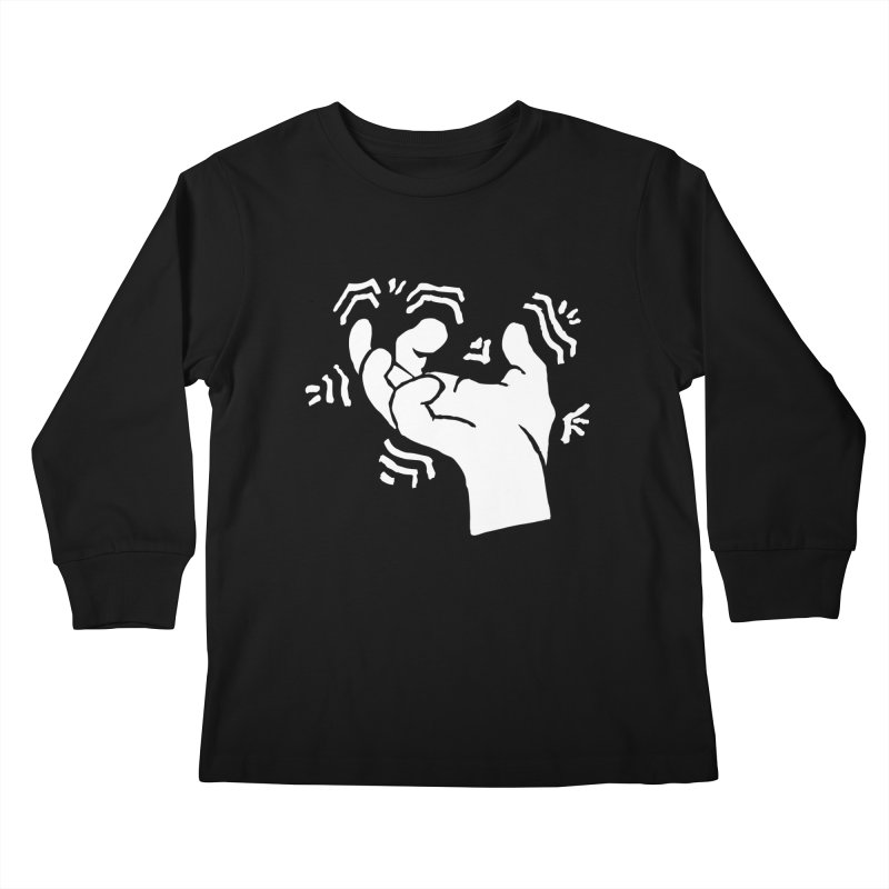 Savage Hand White Kids Longsleeve T-Shirt by The Martial Arts Academy's Store