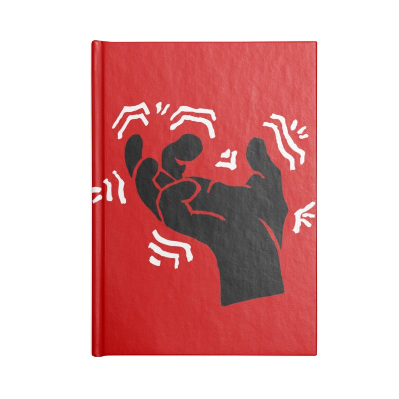 Savage Hand B/W Accessories Lined Journal Notebook by The Martial Arts Academy's Store