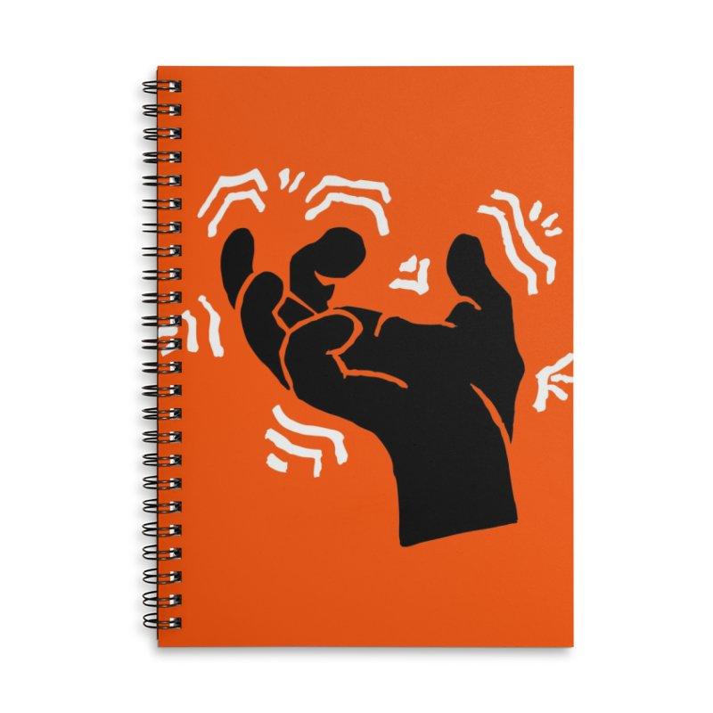 Savage Hand B/W Accessories Lined Spiral Notebook by The Martial Arts Academy's Store