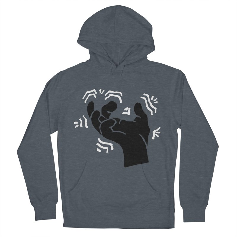 Savage Hand B/W Men's French Terry Pullover Hoody by The Martial Arts Academy's Store