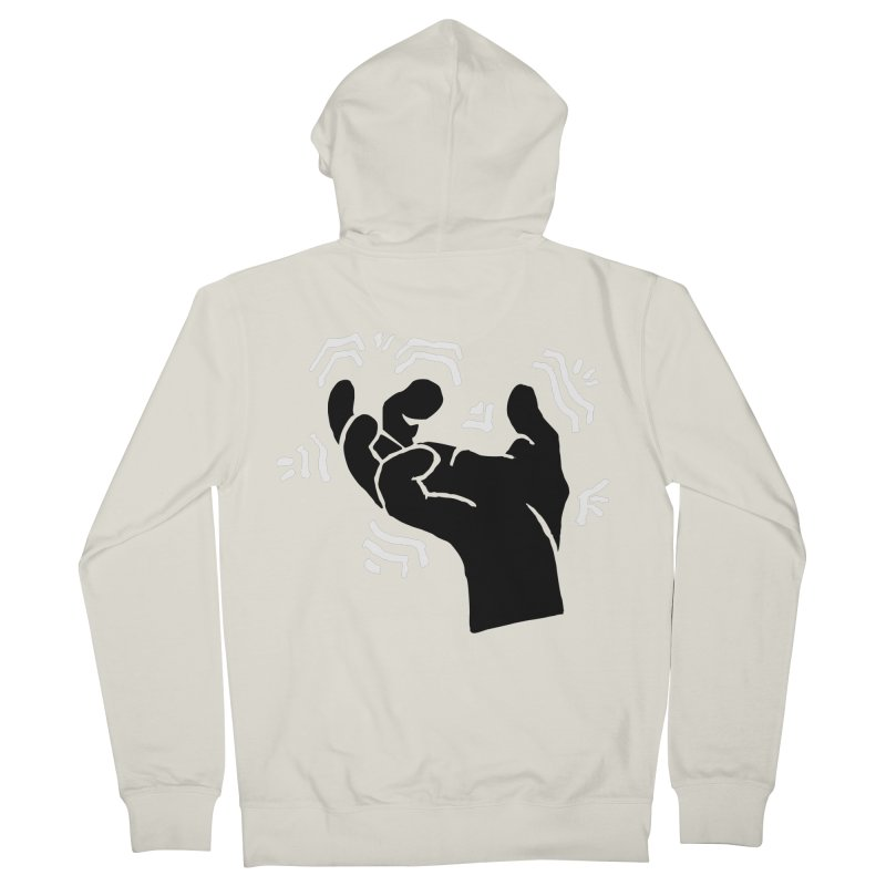 Savage Hand B/W Women's French Terry Zip-Up Hoody by The Martial Arts Academy's Store