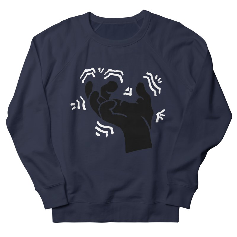 Savage Hand B/W Women's French Terry Sweatshirt by The Martial Arts Academy's Store