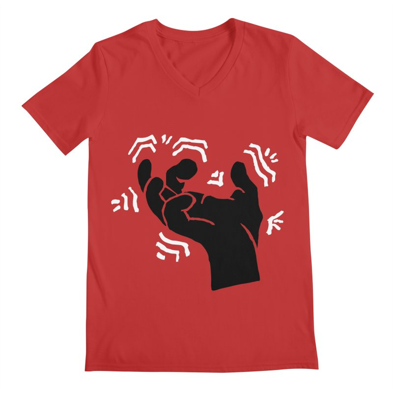 Savage Hand B/W Men's V-Neck by The Martial Arts Academy's Store