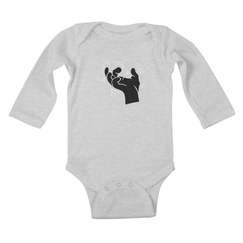 Savage Hand B/W Kids Baby Longsleeve Bodysuit by The Martial Arts Academy's Store