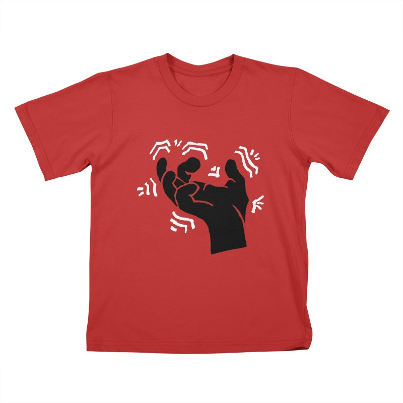 Savage Hand B/W Kids T-Shirt by The Martial Arts Academy's Store