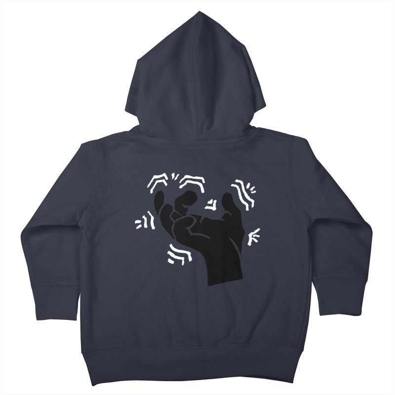 Savage Hand B/W Kids Toddler Zip-Up Hoody by The Martial Arts Academy's Store