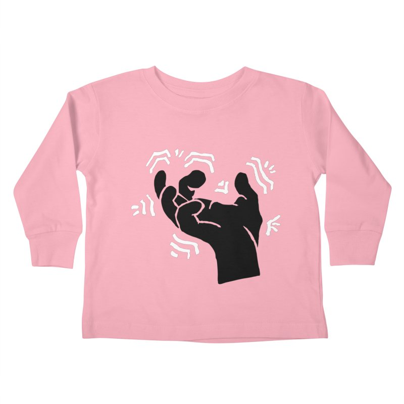 Savage Hand B/W Kids Toddler Longsleeve T-Shirt by The Martial Arts Academy's Store