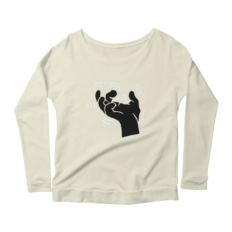 Savage Hand B/W Women's Scoop Neck Longsleeve T-Shirt by The Martial Arts Academy's Store