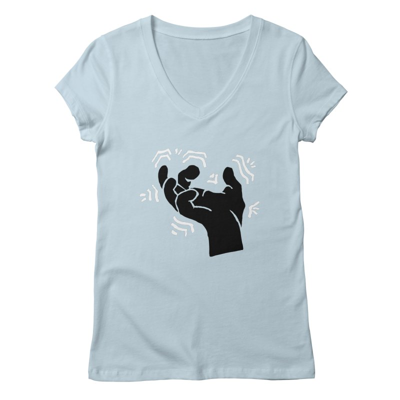 Savage Hand B/W Women's V-Neck by The Martial Arts Academy's Store