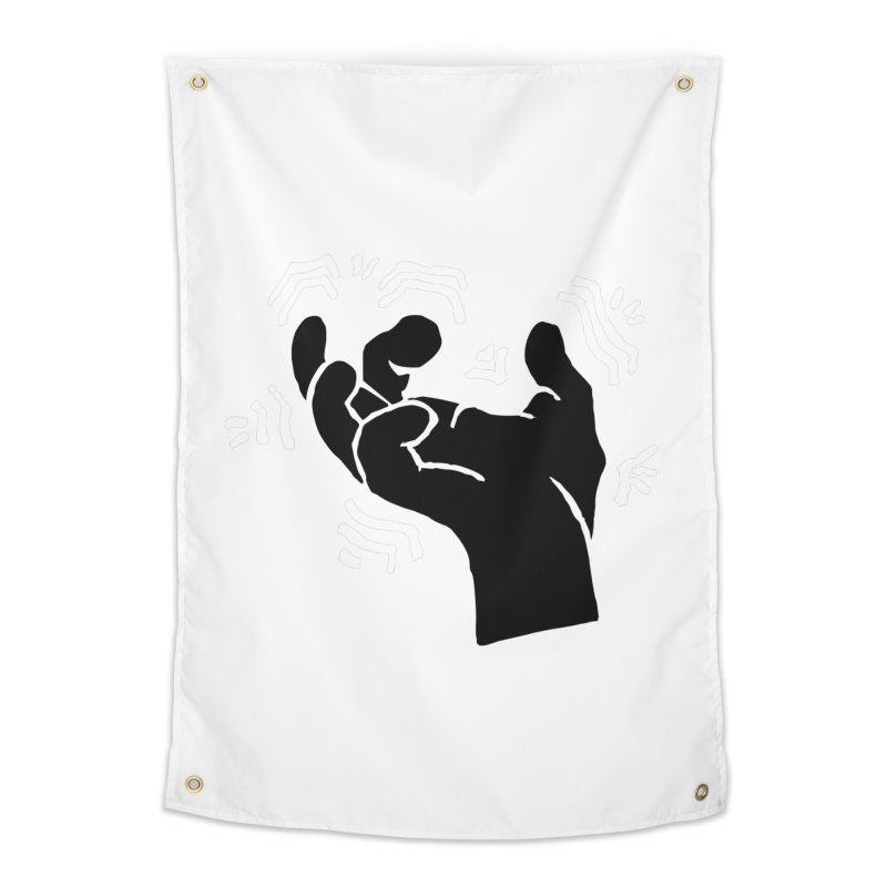 Savage Hand B/W Home Tapestry by The Martial Arts Academy's Store