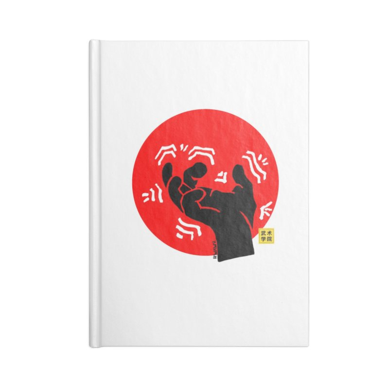 Savage Hand w Sun, black Accessories Lined Journal Notebook by The Martial Arts Academy's Store