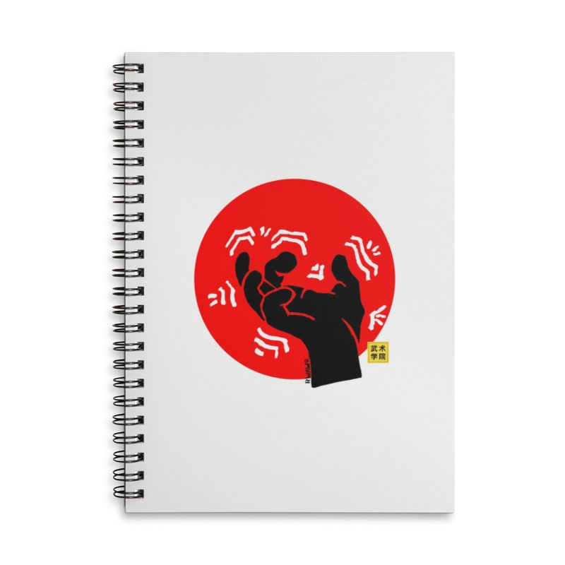 Savage Hand w Sun, black Accessories Lined Spiral Notebook by The Martial Arts Academy's Store