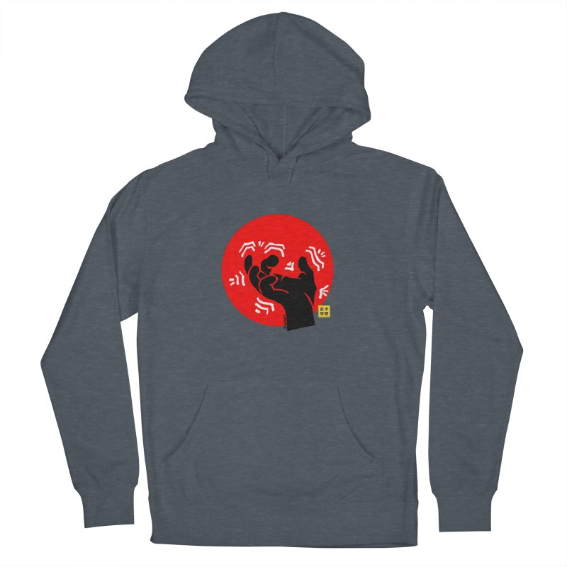 Savage Hand w Sun, black Women's French Terry Pullover Hoody by The Martial Arts Academy's Store
