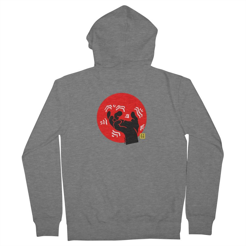 Savage Hand w Sun, black Women's Zip-Up Hoody by The Martial Arts Academy's Store