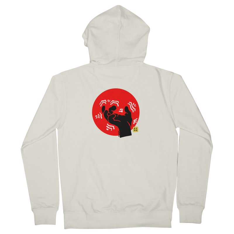 Savage Hand w Sun, black Men's French Terry Zip-Up Hoody by The Martial Arts Academy's Store