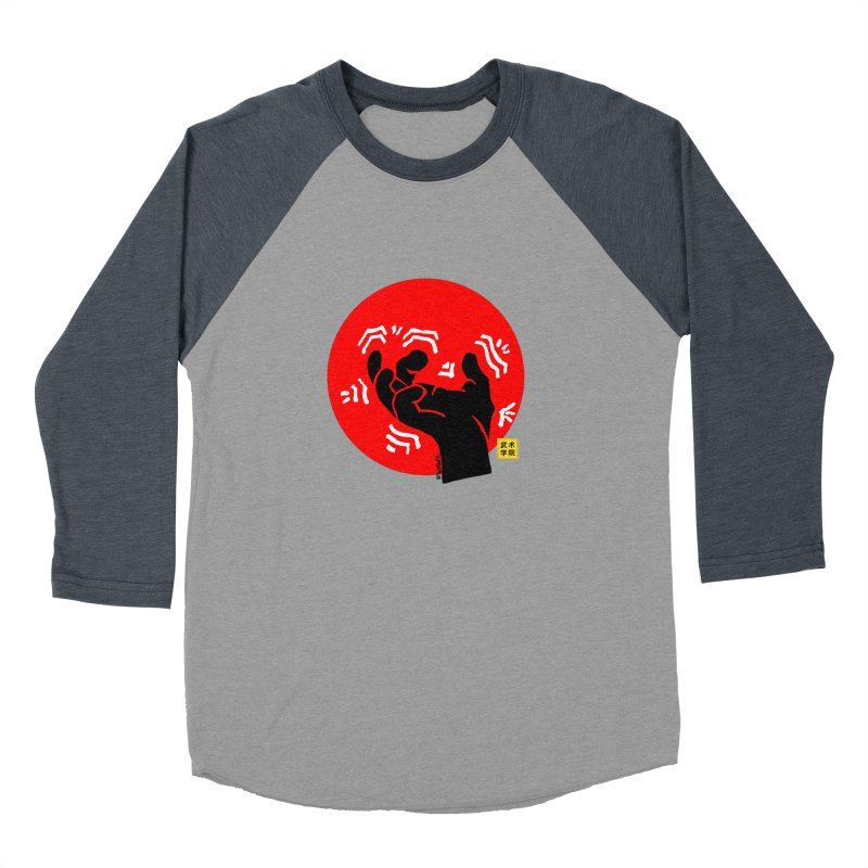 Savage Hand w Sun, black Women's Baseball Triblend Longsleeve T-Shirt by The Martial Arts Academy's Store