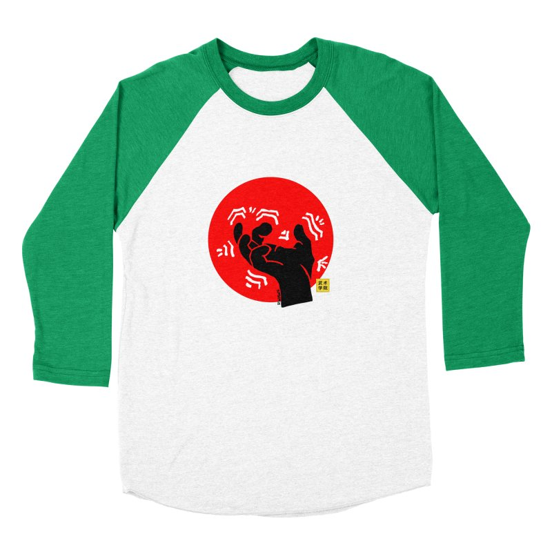 Savage Hand w Sun, black Men's Baseball Triblend Longsleeve T-Shirt by The Martial Arts Academy's Store