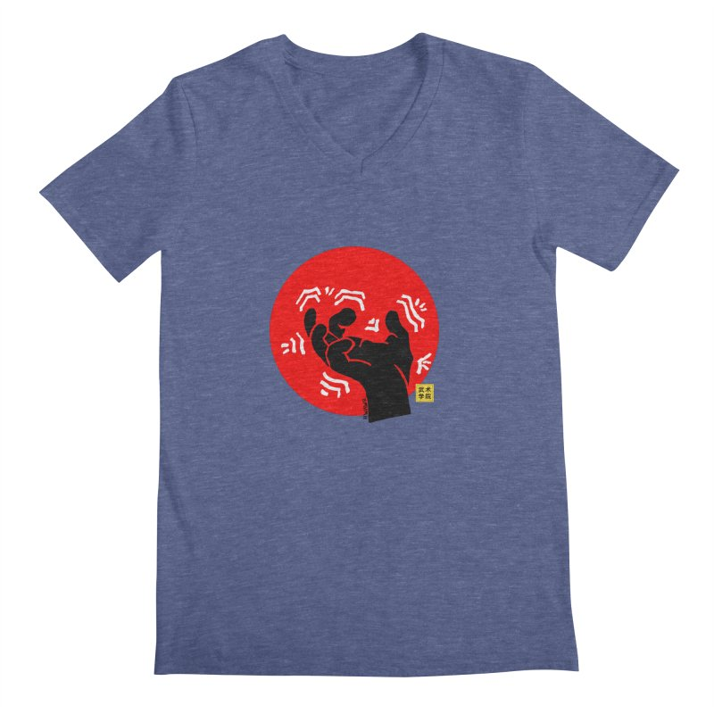 Savage Hand w Sun, black Men's V-Neck by The Martial Arts Academy's Store
