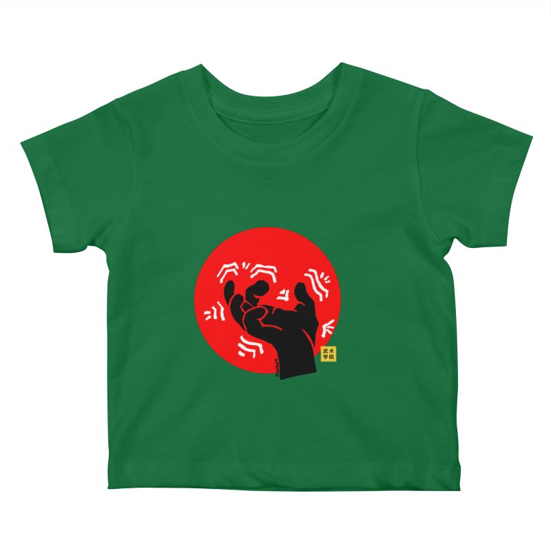 Savage Hand w Sun, black Kids Baby T-Shirt by The Martial Arts Academy's Store