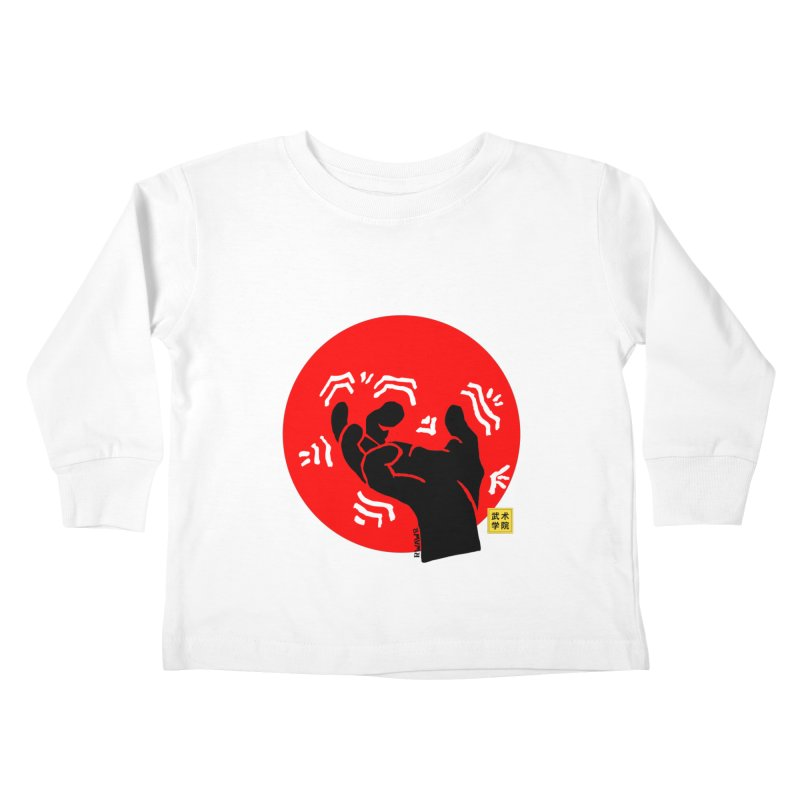 Savage Hand w Sun, black Kids Toddler Longsleeve T-Shirt by The Martial Arts Academy's Store
