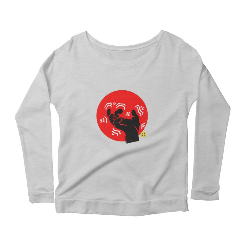 Savage Hand w Sun, black Women's Scoop Neck Longsleeve T-Shirt by The Martial Arts Academy's Store