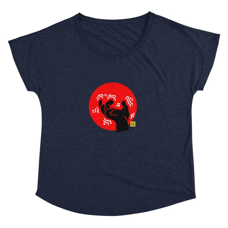 Savage Hand w Sun, black Women's Dolman Scoop Neck by The Martial Arts Academy's Store