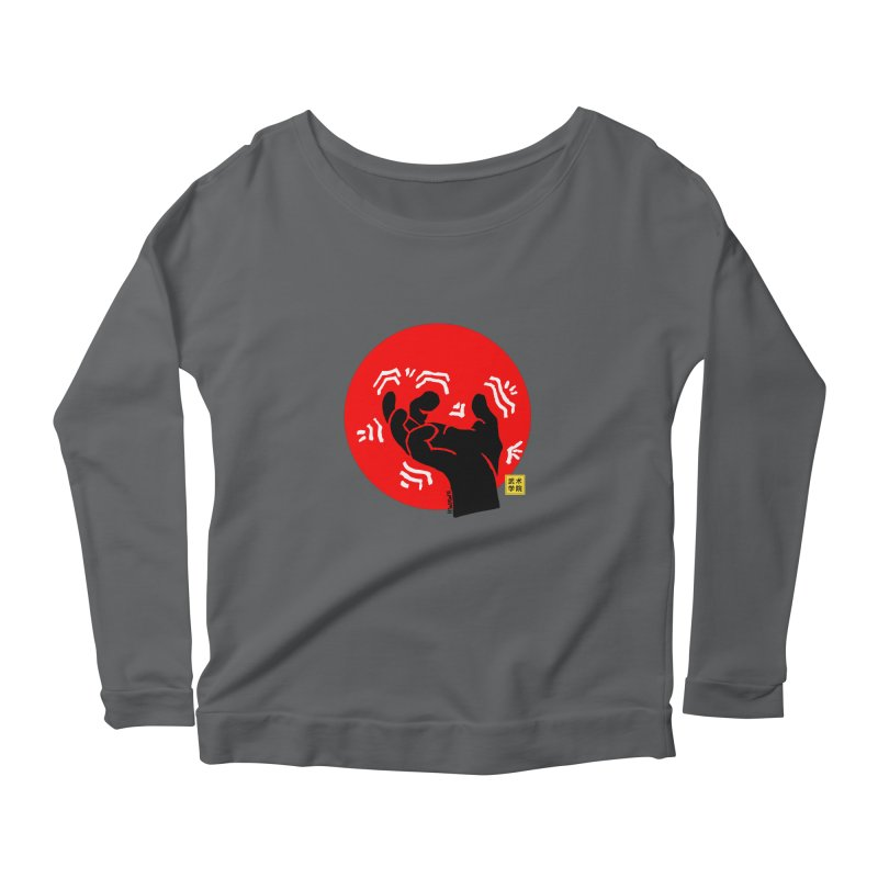Savage Hand w Sun, black Women's Longsleeve T-Shirt by The Martial Arts Academy's Store