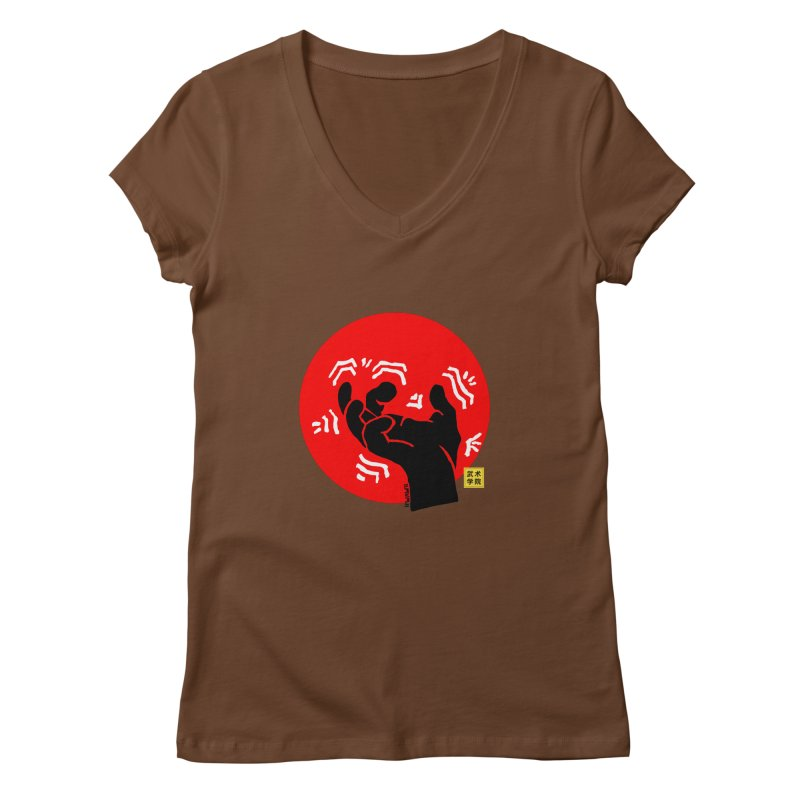 Savage Hand w Sun, black Women's Regular V-Neck by The Martial Arts Academy's Store