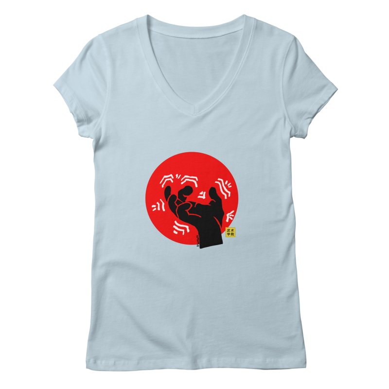 Savage Hand w Sun, black Women's V-Neck by The Martial Arts Academy's Store
