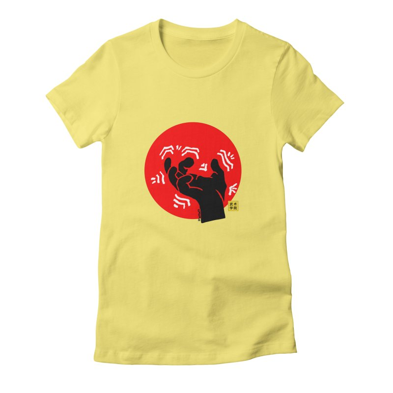 Savage Hand w Sun, black Women's Fitted T-Shirt by The Martial Arts Academy's Store