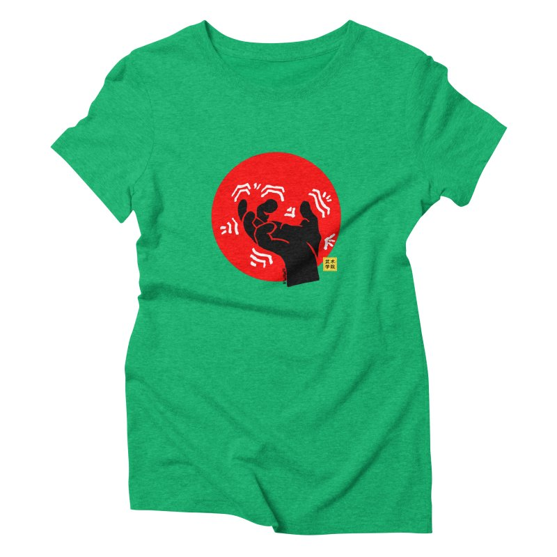 Savage Hand w Sun, black Women's Triblend T-Shirt by The Martial Arts Academy's Store