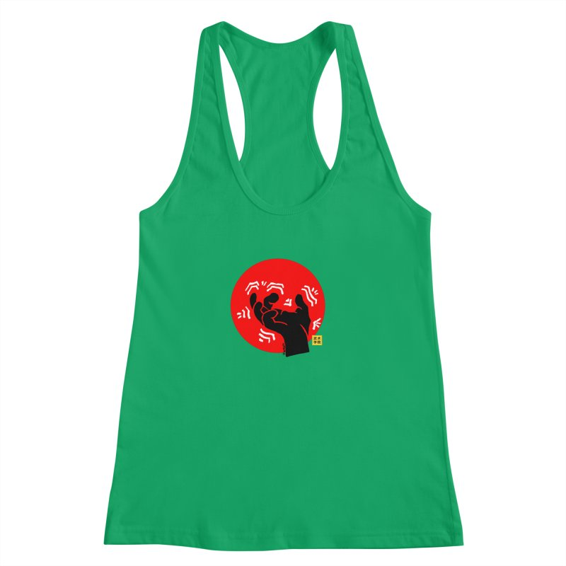 Savage Hand w Sun, black Women's Racerback Tank by The Martial Arts Academy's Store