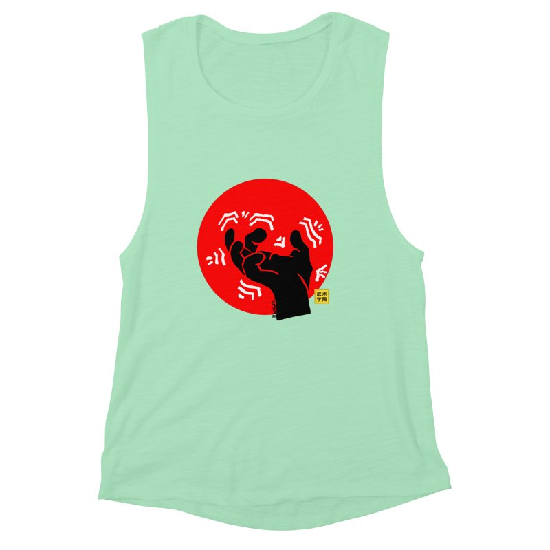 Savage Hand w Sun, black Women's Muscle Tank by The Martial Arts Academy's Store
