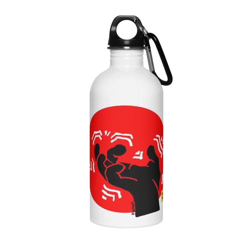 Savage Hand w Sun, black Accessories Water Bottle by The Martial Arts Academy's Store