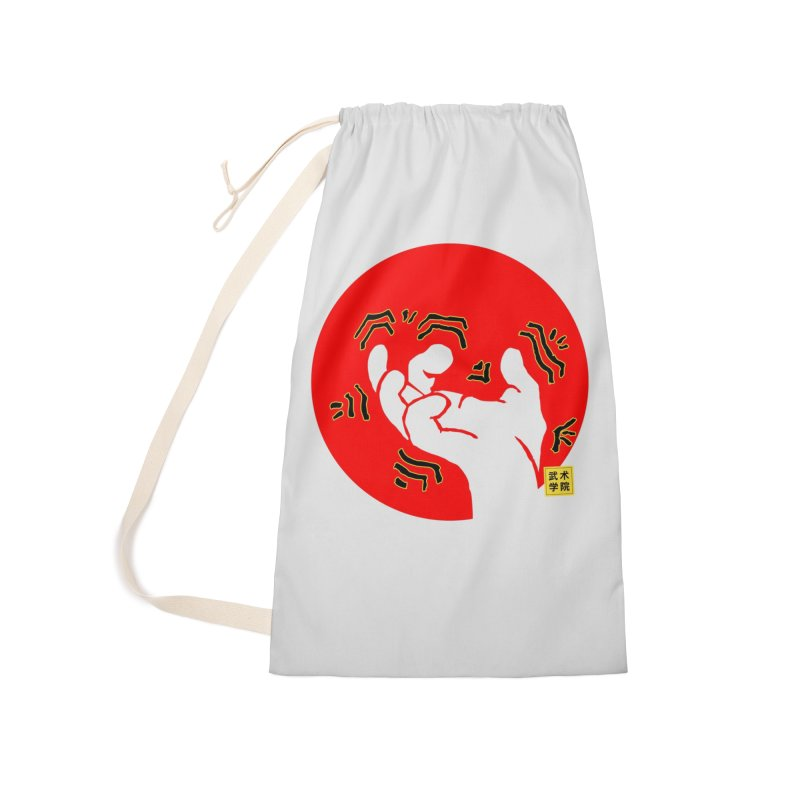 Savage Hand w Sun, Transparent + Yellow Details Accessories Laundry Bag Bag by The Martial Arts Academy's Store