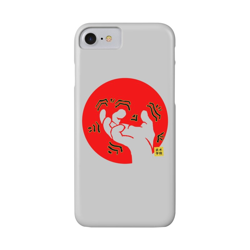 Savage Hand w Sun, Transparent + Yellow Details Accessories Phone Case by The Martial Arts Academy's Store