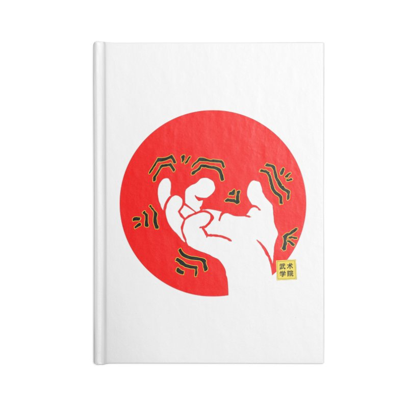 Savage Hand w Sun, Transparent + Yellow Details Accessories Blank Journal Notebook by The Martial Arts Academy's Store