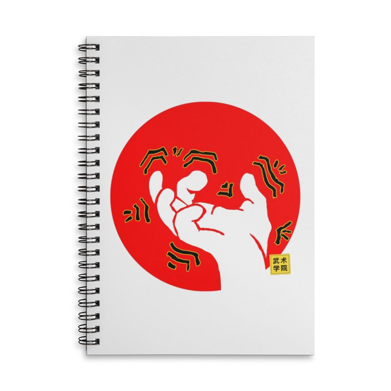 Savage Hand w Sun, Transparent + Yellow Details Accessories Lined Spiral Notebook by The Martial Arts Academy's Store