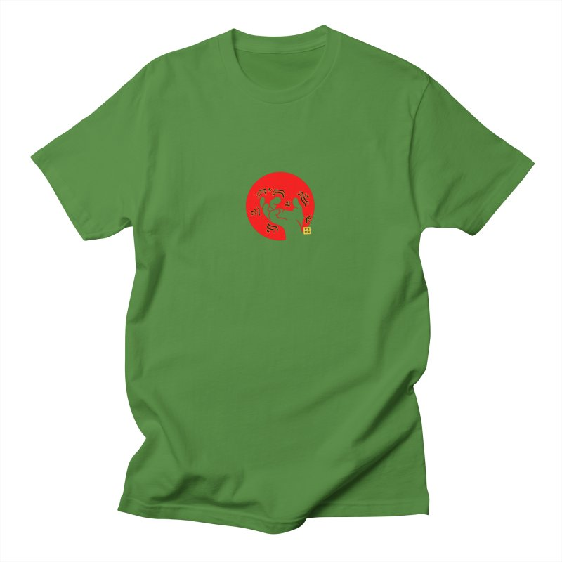 Savage Hand w Sun, Transparent + Yellow Details Men's T-Shirt by The Martial Arts Academy's Store
