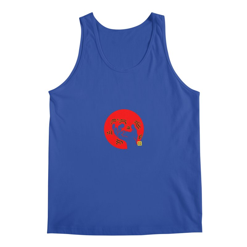 Savage Hand w Sun, Transparent + Yellow Details Men's Regular Tank by The Martial Arts Academy's Store