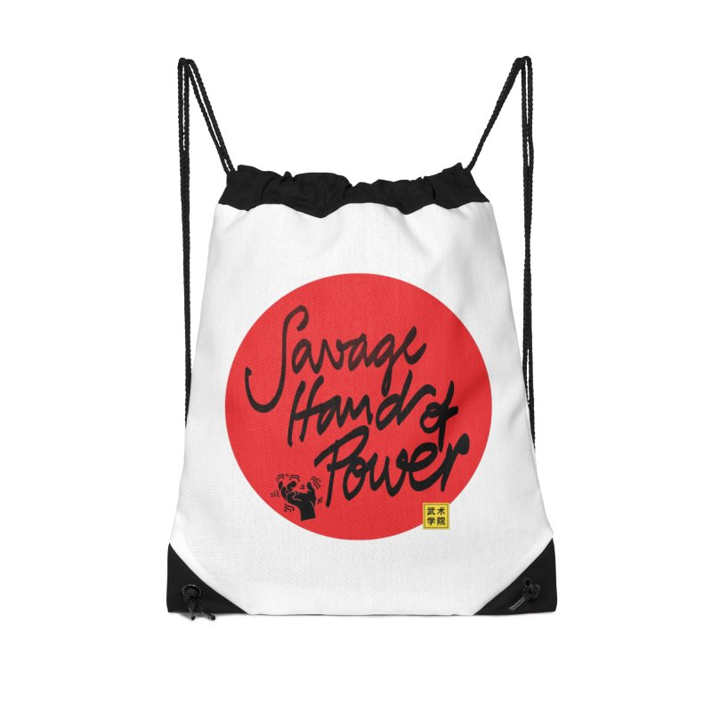 Savage Hand, Script Accessories Drawstring Bag Bag by The Martial Arts Academy's Store