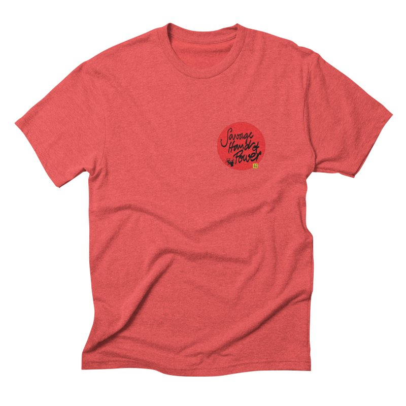 Savage Hand, Script Men's T-Shirt by The Martial Arts Academy's Store