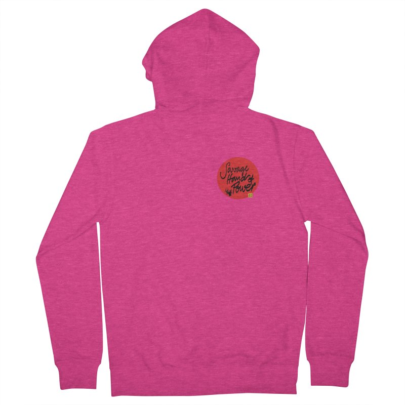Savage Hand, Script Women's Zip-Up Hoody by The Martial Arts Academy's Store